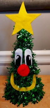 Dollar Tree Tinsel Tree With Face