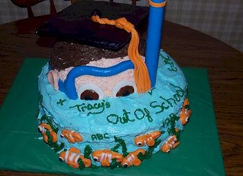 Out of School Scuba Graduation Cake