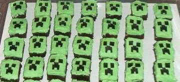 Minecraft Creeper Brownies