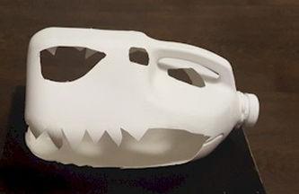 Dinosaur Skull Milk Jug Craft