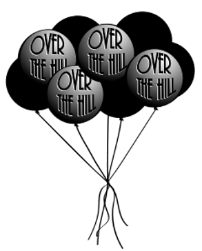 Over the Hill Balloons Clipart