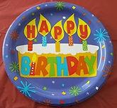 Dollar Tree Birthday Plate
