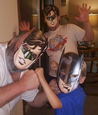 Superhero Masks Photo Op