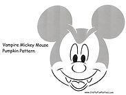 Vampire Mickey Mouse Pattern