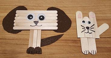 Cat Dog Popsicle Craft Sticks