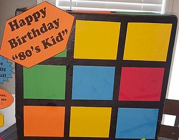 80's Theme Rubik's Cube