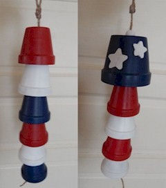 Patriotic USA Windchimes Craft