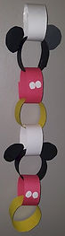 Mickey Mouse Paper Chain