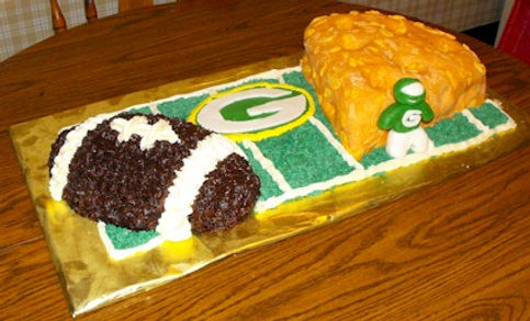 Green Bay Packers Cheese and Football Cake