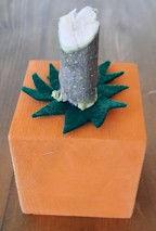 Wood Cube Pumpkin