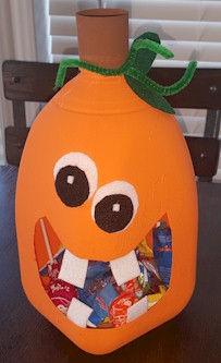 Milk Jug Pumpkin Jack O Lantern