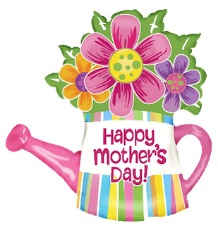 Mothers Day Watering Can Clipart png