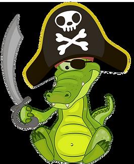 Pirate Crocodile Clipart
