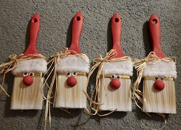 Paintbrush Santa Craft