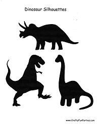Dinosaur Silhouettes Printable