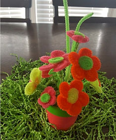 Pipe Cleaner Neon Daisies