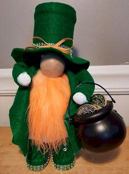 St Patricks Gnome Green Felt Standing