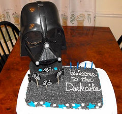 Darth Vader Welcome to the Darkside Cake