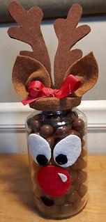 Reindeer Noses Candy Jar