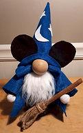 Wizard Mickey Gnome Blue