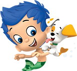 Bubble Guppies Gil and Puppy png
