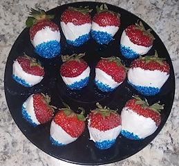 Red White Blue Strawberries