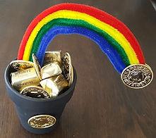 Clay Pot Gold Rainbow