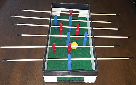 Clothes Pin Foosball Table
