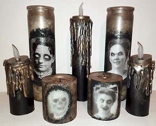 Creepy Halloween Candles
