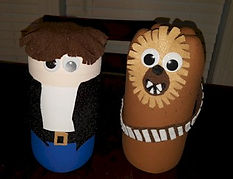 Star Wars Hans Solo and Chewbacca Pop Bottle Crafts