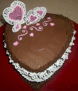 Lace Heart Cake Royal Icing