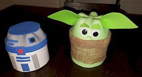 Star Wars Yoda and R2D2 Pop Bottle Crafts