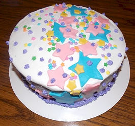 Fondant Stars Cake