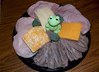 Meat Platter with Toy Accent