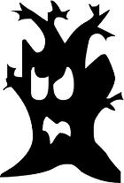 Halloween Haunted Tree Clipart