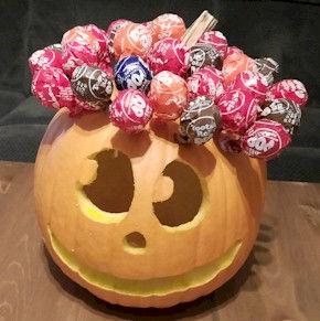 Tootsie Pop Pumpkin