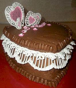 Lace Heart Cake Royal Icing 2