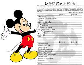 Disney Scattergories