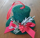 Top Hat Traditional Christmas Ornament