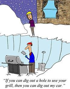 Winter Grilling Clipart Meme