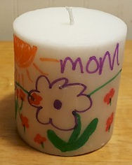 Mother's Day Add a Picture to a Candle