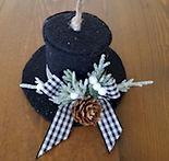Top Hat Farmhouse Rustic Ornament