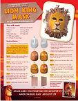 Lion King Milk Jug Mask