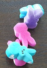 Stacked Peep Bunnies Game Fall