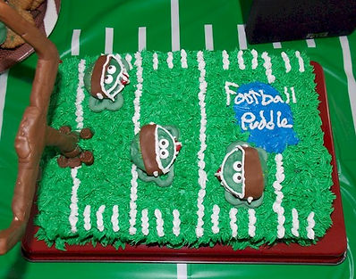 Football Puddle Cake