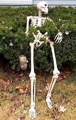 Halloween Drunk Skeleton Bushes