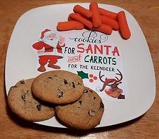 DIY Santa Cookies Plate