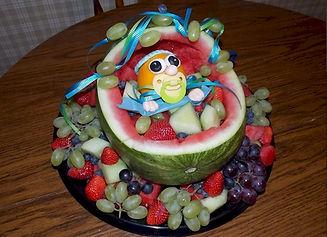 Watermelon Bassinet Fruit Bowl