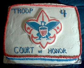 Boy Scouts Logo Cake