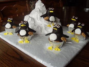 Glacier Cake Penguin Cupcakes